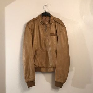 El Venado Gold Leather Bomber Jacket Mens Size 48
